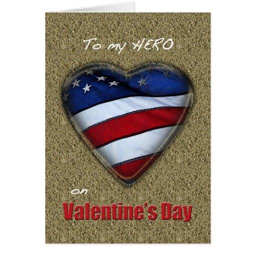 Corazón patriótico de la tarjeta del día de San Va
