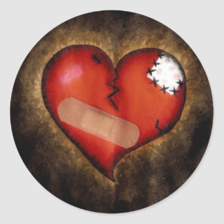 Corazón-pegatina del corazón quebrado de la repara