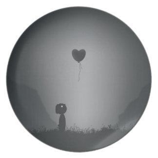 Corazón perdido en limbo platos para fiestas