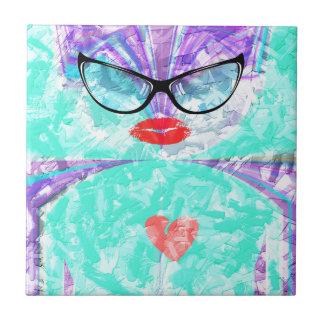 Corazón perfecto azulejo cuadrado pequeño