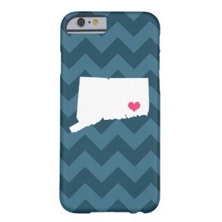 Corazón personalizado de Chevron Connecticut de Funda Barely There iPhone 6