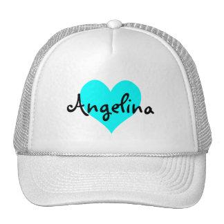 Corazón personalizado de la aguamarina gorra