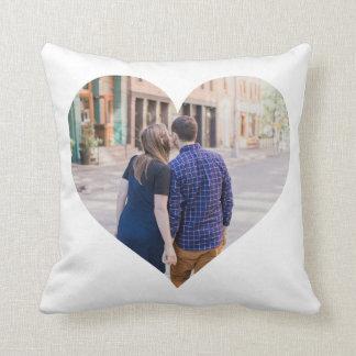Corazón personalizado de la foto del | almohadas