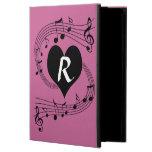 Corazón personalizado de las notas musicales del