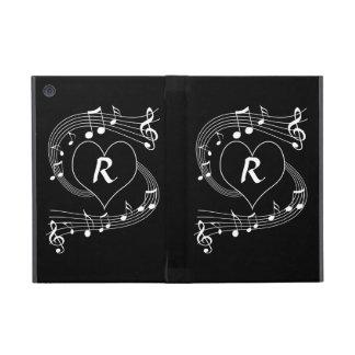 Corazón personalizado de las notas musicales del m iPad mini carcasa
