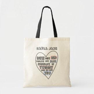 Corazón personalizado del amor del Doodle de la di Bolsas