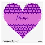 Corazón personalizado del lunar de la púrpura y de