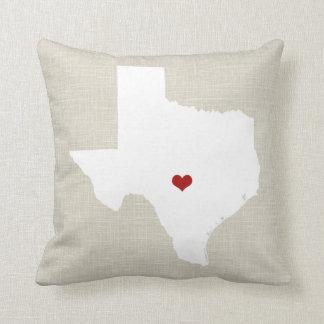 Corazón personalizado falso lino de la almohada