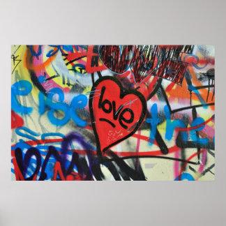 corazón pintado impresiones