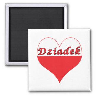 Corazón polaco de Dziadek Iman Para Frigorífico