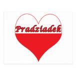 Corazón polaco de Pradziadek Postal