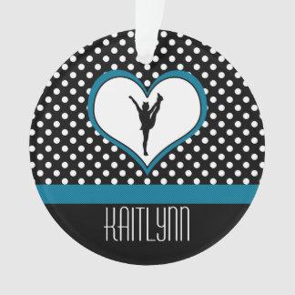 Corazón Polca-Punteado alegría en azul del trullo