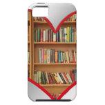 Corazón por completo de libros iPhone 5 Case-Mate protectores