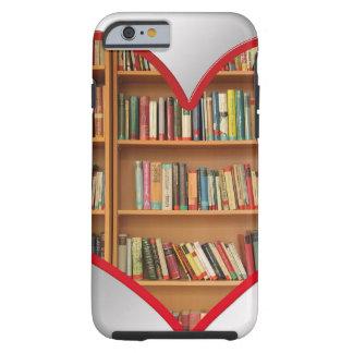 Corazón por completo de libros funda para iPhone 6 tough