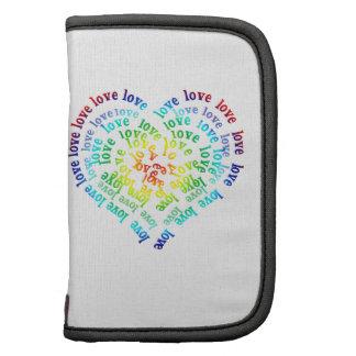 Corazón por completo del amor del arco iris planificador