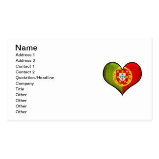 Corazón portugués tarjetas de visita