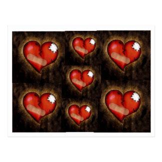 Corazón-postal del corazón quebrado de la reparaci