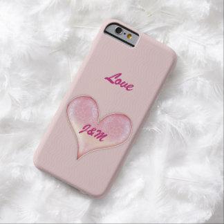 Corazón precioso de la tarjeta del día de San Funda De iPhone 6 Barely There