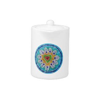 Corazón precioso del hippie del teñido anudado