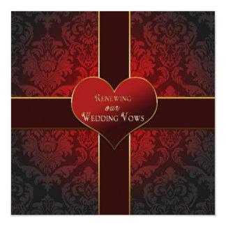 Corazón/presente - renovación de la invitación de