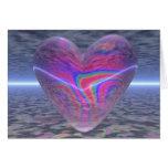 Corazón psicodélico de la tarjeta del día de San V