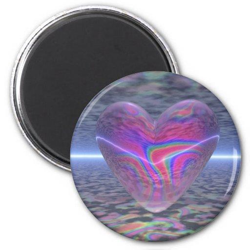 Corazón psicodélico de la tarjeta del día de San V Imán De Nevera