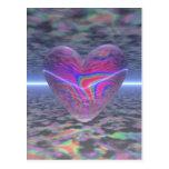 Corazón psicodélico de la tarjeta del día de San V Postal