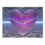 Corazón psicodélico de la tarjeta del día de San V Tarjeta Postal