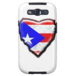 Corazón puertorriqueño de la bandera galaxy s3 funda