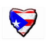 Corazón puertorriqueño de la bandera postal