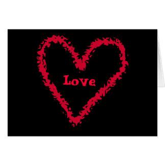 Corazón punky lindo del amor de la forma libre tarjeta pequeña