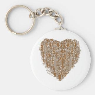 Corazón PURO - la plata del oro n grabó diseño Llavero