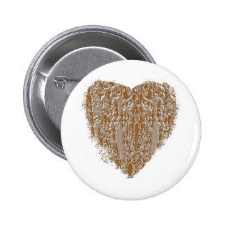 Corazón PURO - la plata del oro n grabó diseño Pin