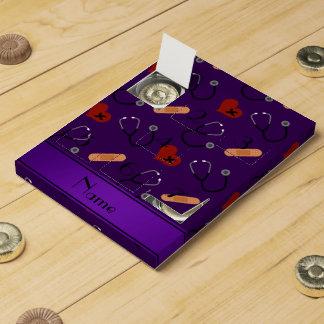 Corazón púrpura conocido personalizado del vendaje