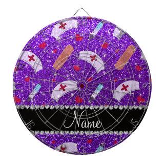 Corazón púrpura de los gorras de la enfermera del tabla dardos