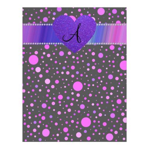 Corazón púrpura de los lunares púrpuras negros tarjetas publicitarias