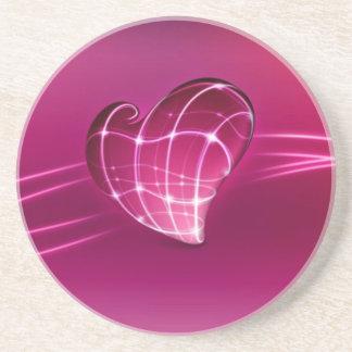 corazón púrpura del amor 3d posavasos manualidades