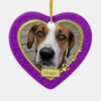 Corazón púrpura del oro del navidad conmemorativo