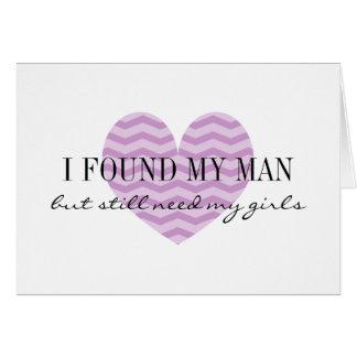 Corazón púrpura del zigzag usted será mi tarjeta