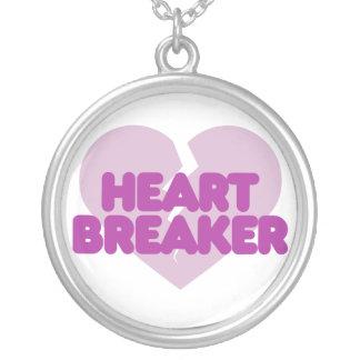 Corazón púrpura lindo del rompecorazones joyerias