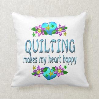 Corazón que acolcha feliz almohadas