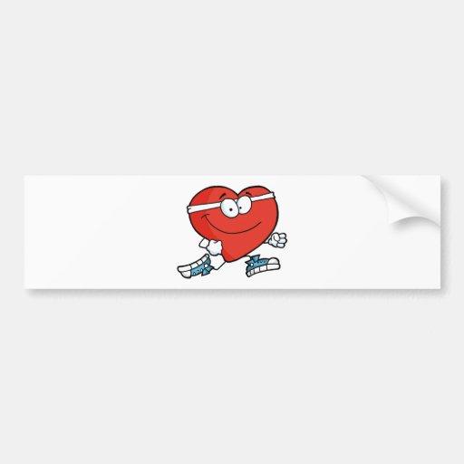 Corazón que activa pegatina de parachoque