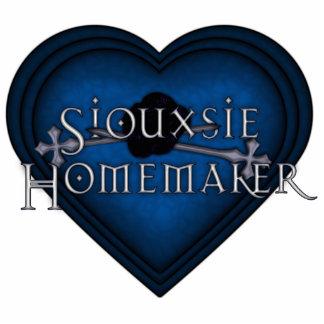 Corazón que hace punto azul del casero de Siouxsie Escultura Fotográfica
