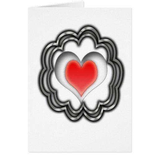 Corazón que pulsa tarjeta de felicitación