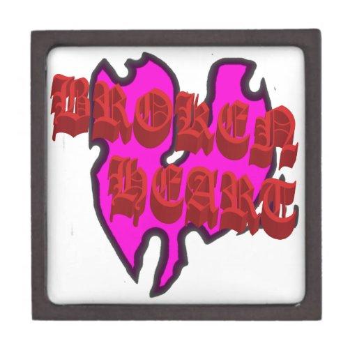 Corazón quebrado caja de joyas de calidad