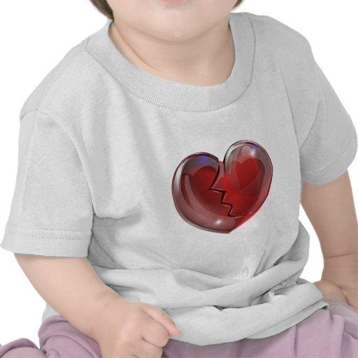 Corazón quebrado camiseta