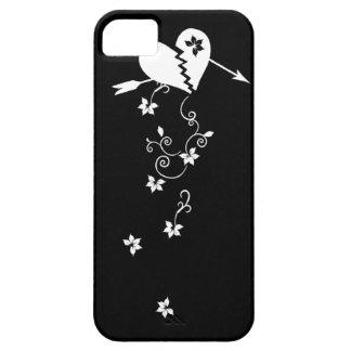 Corazón quebrado con el caso del iPhone 5 de las f iPhone 5 Funda