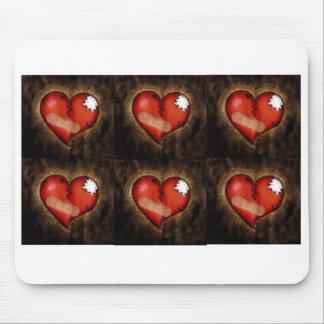 Corazón quebrado Corazón-mousepad de la reparación Alfombrilla De Ratones
