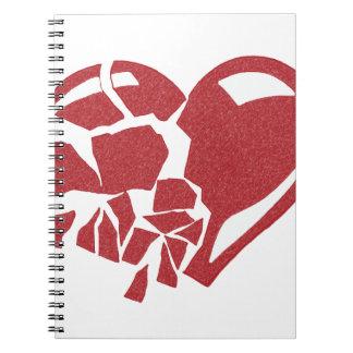 Corazón quebrado cuaderno