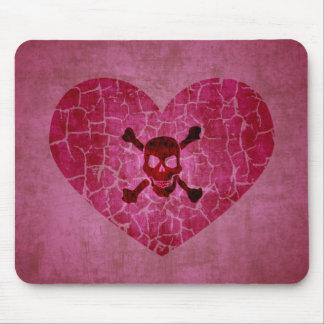 Corazón quebrado del Grunge gótico Alfombrilla De Raton